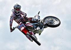 Motocross med snygg whip