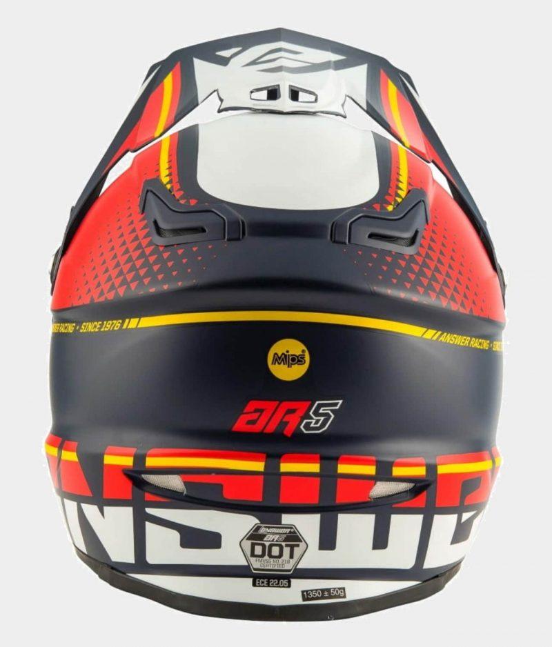 Answer Racing AR5 Blå/Röd/Vit Crosshjälm